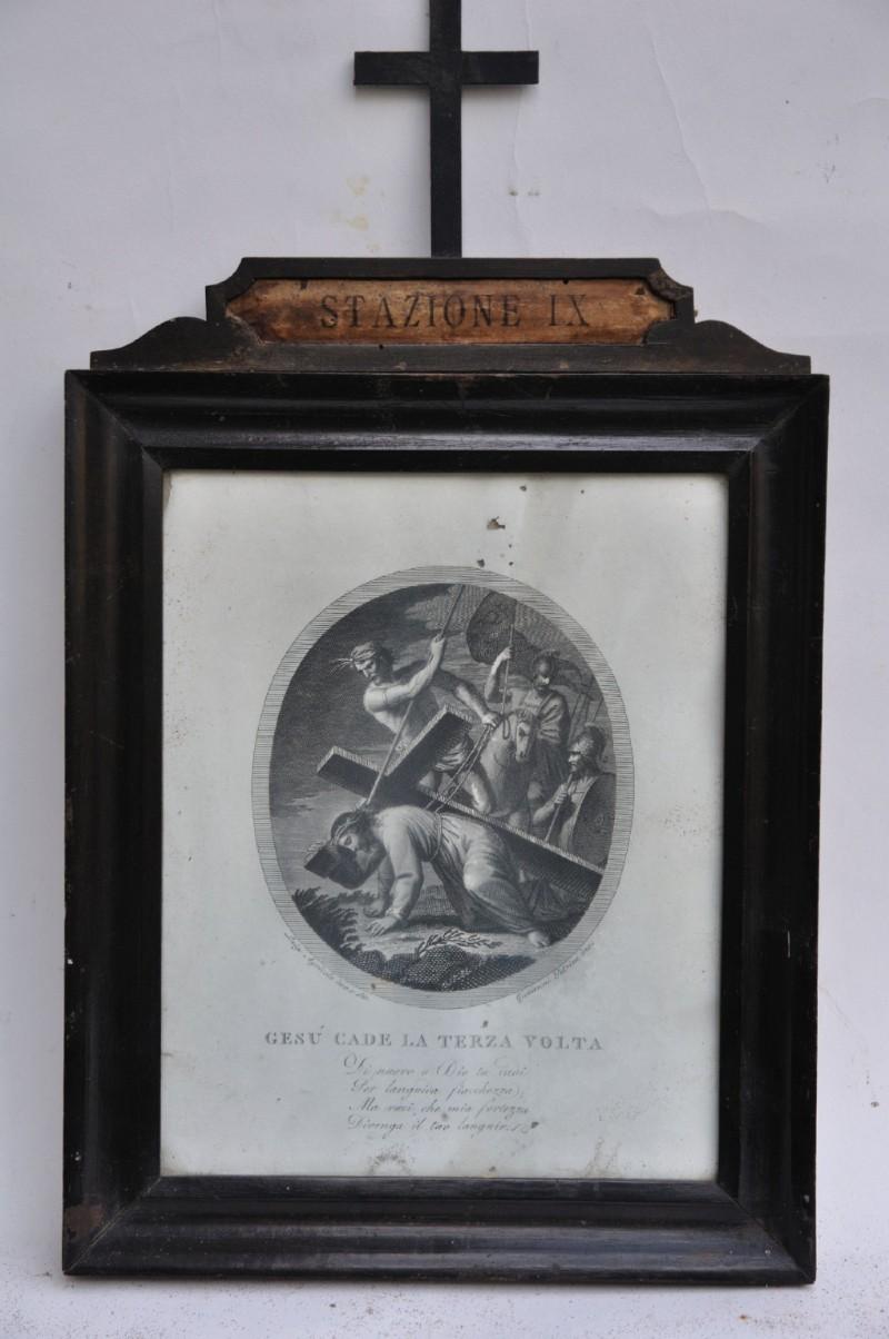 Agricola L. - Petrini G. seconda metà sec. XVIII, Cristo cade la terza volta