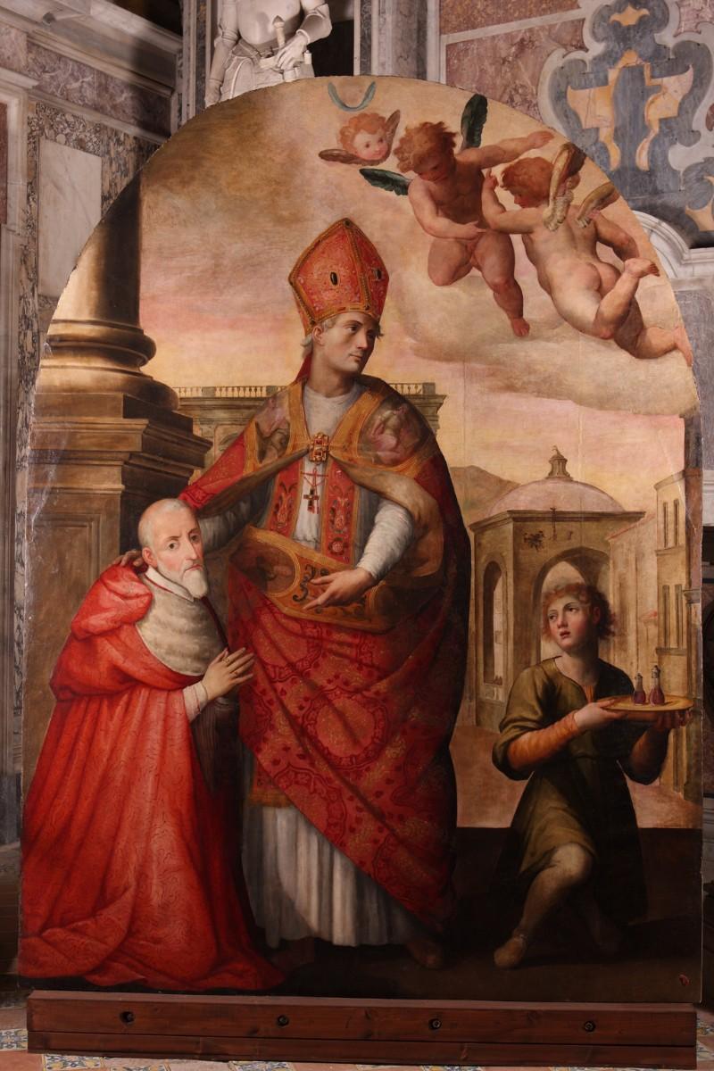 Balducci G. (1599), San Gennaro con l'arcivescovo Alfonso Gesualdo