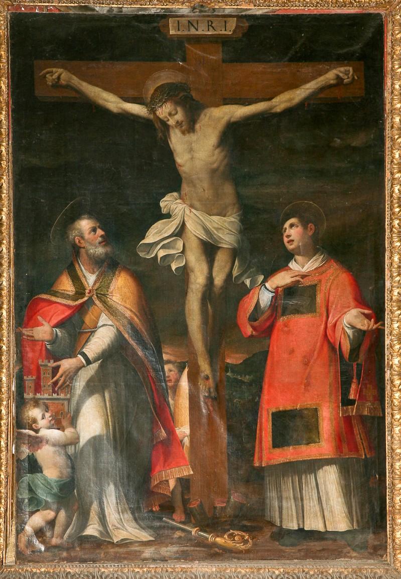 Cittadini Carlo sec. XVII, Crocifisso e i Santi Florido e Amanzio