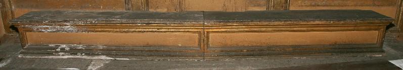 Bottega umbra sec. XVII, Gradino da altare con due specchiature