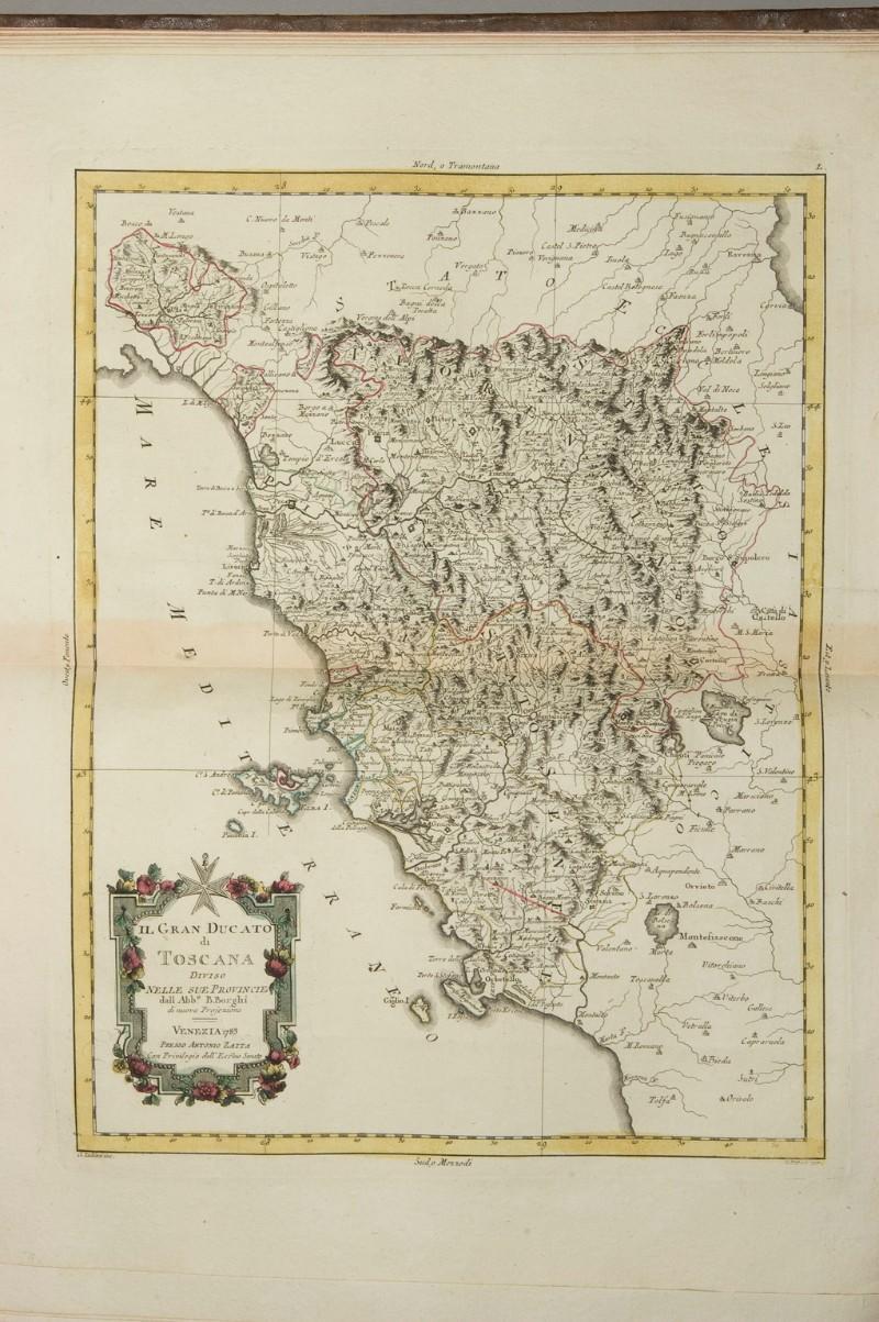 Cartina Geografica Della Toscana.Zuliani G 1783 Carta Geografica Della Granducato Di Toscana 6307526