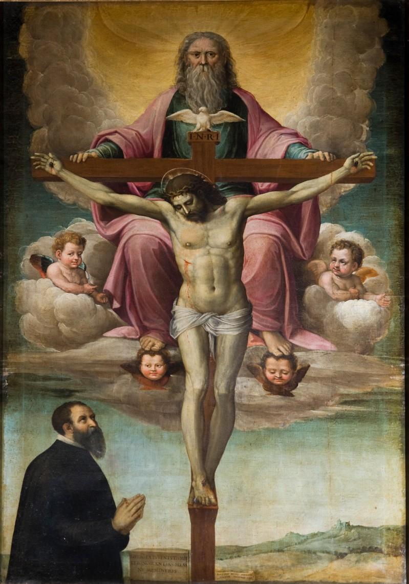 Neroni B. (1566), Santissima Trinità e committente dipinto a olio