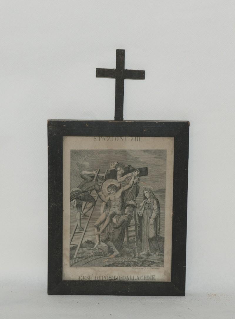 Ambito italiano sec. XX, Stampa di Gesù deposto dalla croce