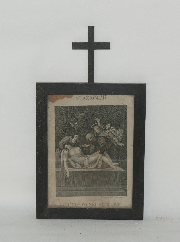 Ambito italiano sec. XX, Stampa di Gesù deposto nel sepolcro
