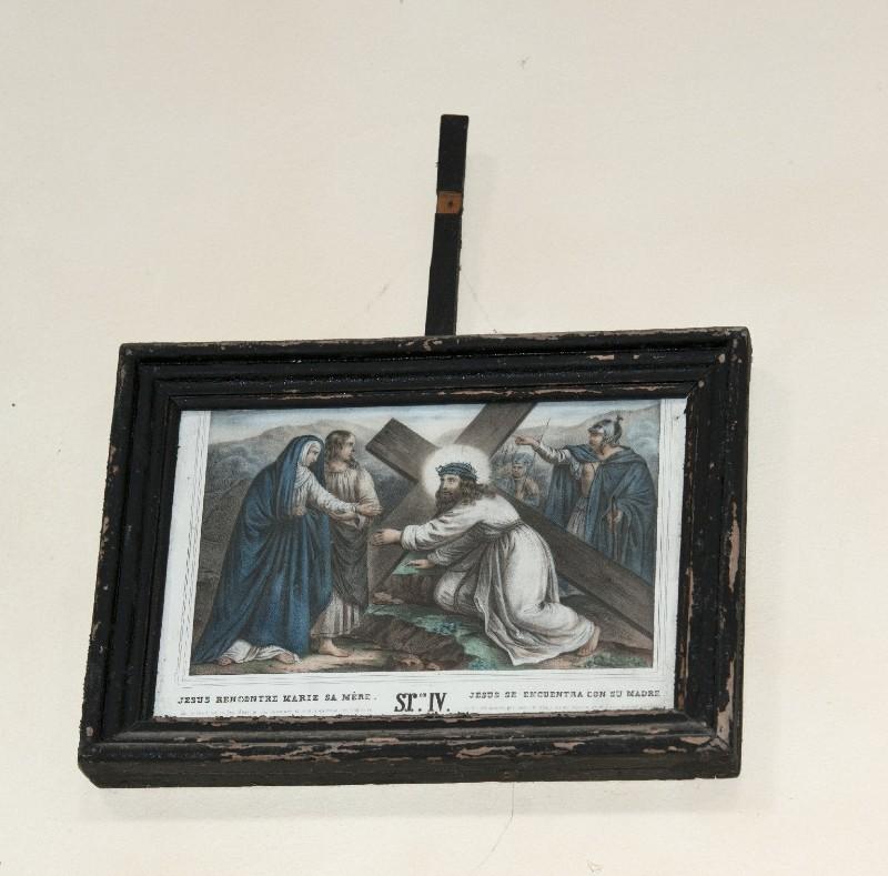 Ambito francese sec. XX, Stampa di Gesù che incontra la Madonna
