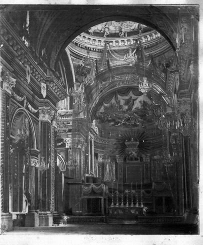 Il presbiterio nella seconda metà del XIX sec.