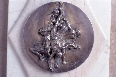 Particolare dell'altare - Il martirio di San Pietro  di L. Scorzelli