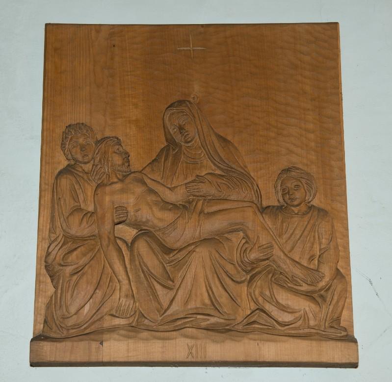 Belluomini A. sec. XX, Scultura di Gesù deposto dalla croce