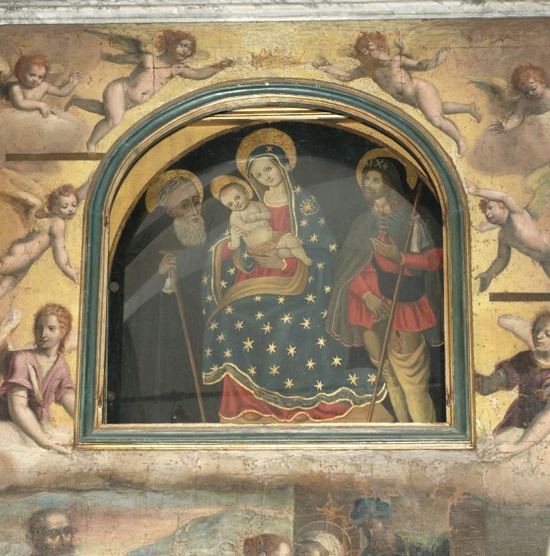 Ambito toscano sec. XV, Dipinto della Madonna e santi