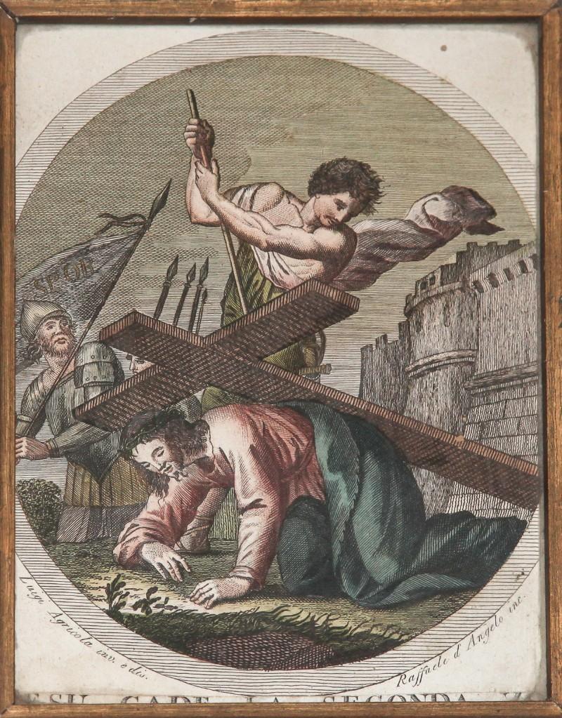 Agricola Luigi - D'Angelo Raffaele sec. XIX, Gesù cade la seconda volta