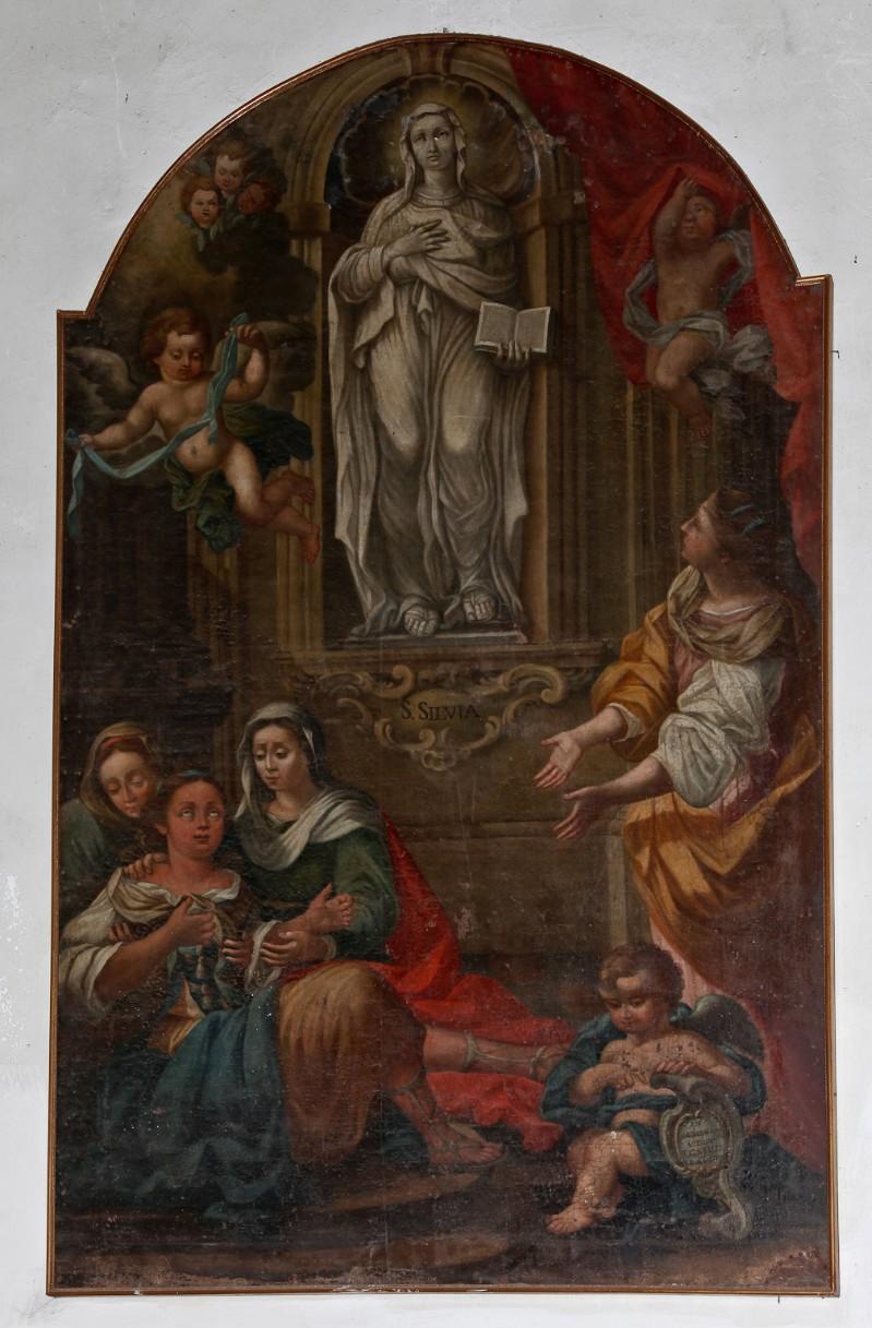 Scuola umbra (1783), Dipinto con Santa Silvia