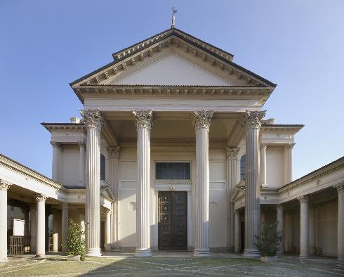 La facciata della cattedrale di Santa Maria Assunta a Novara