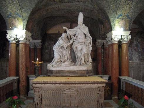L. Giosafatti, S. Emidio battezza Polisia  ca., 1728 - Cripta della cattedrale