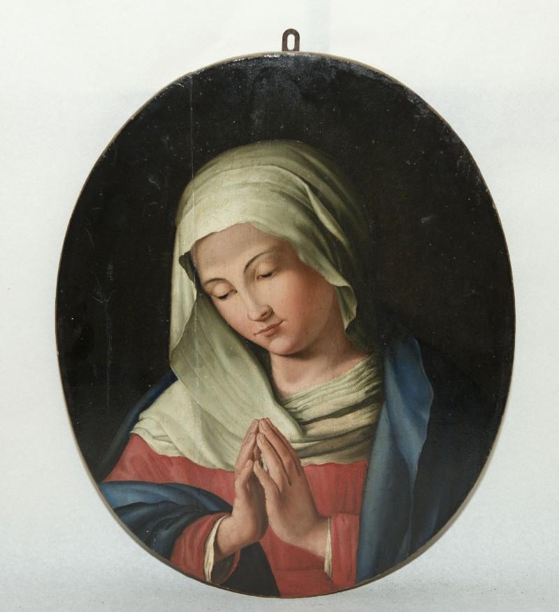 Ambito toscano sec. XVIII, Dipinto della Madonna in preghiera