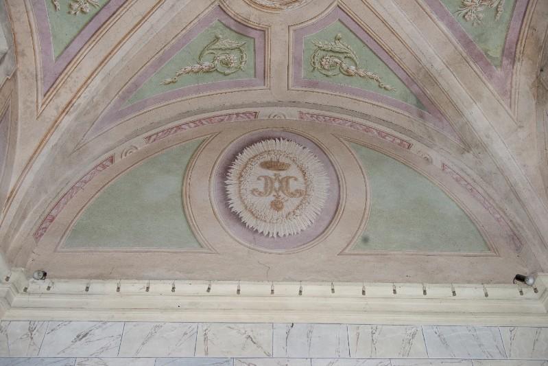 Ambito toscano sec. XIX, Dipinto murale con monogramma di Maria