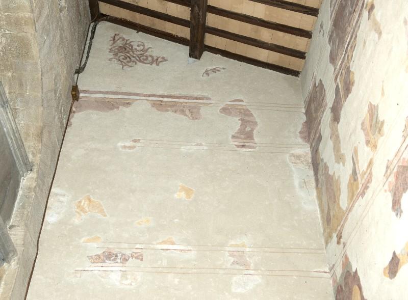 Ambito toscano sec. XIII, Dipinto murale del Battesimo di Gesù Cristo