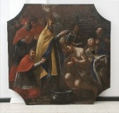 Ambito napoletano sec. XVIII, Dipinto di San Silvestro papa