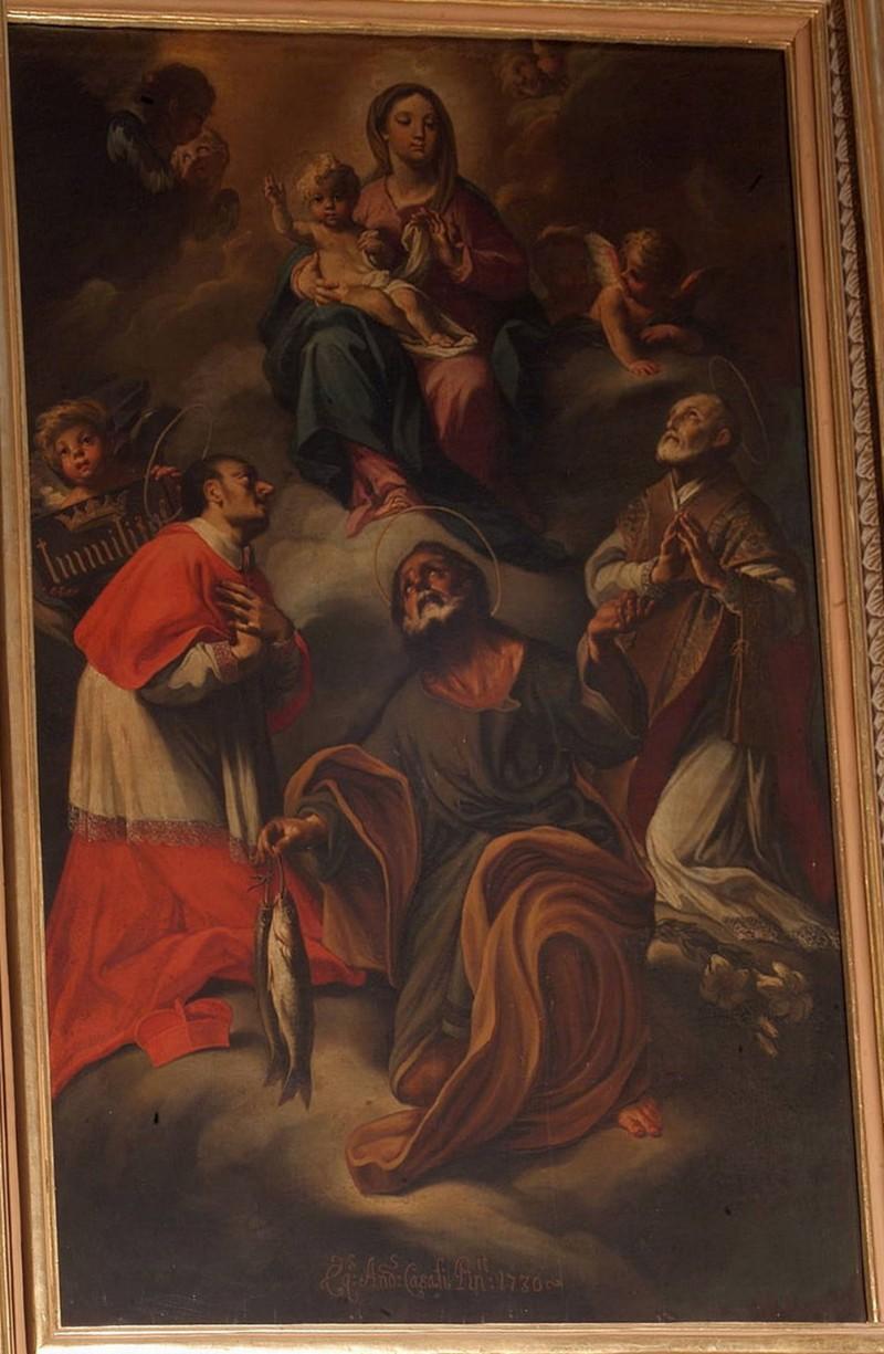 Casali A. (1730), Madonna con Gesù Bambino e Santi