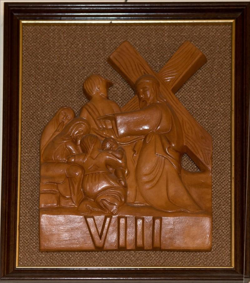 Ambito toscano sec. XX, Bassorilievo di Gesù che consola le pie donne