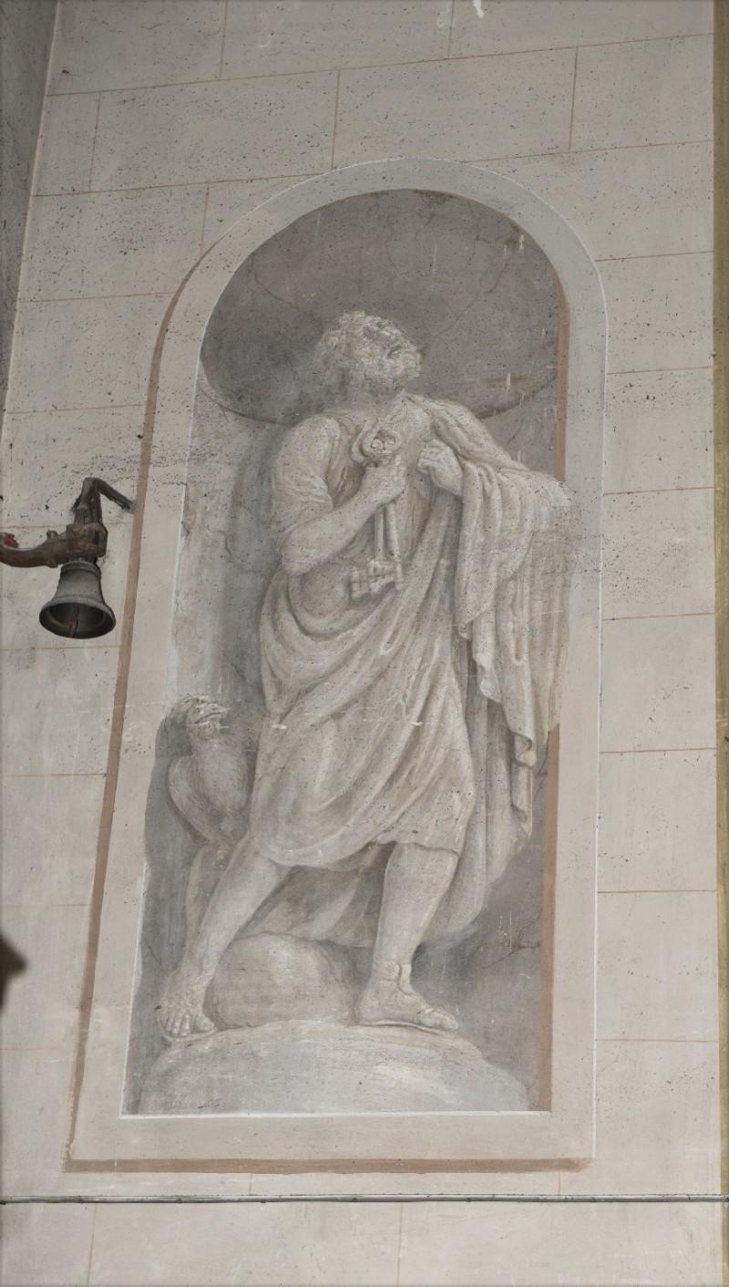 Ademollo L. sec. XIX, Affresco monocromo di San Pietro