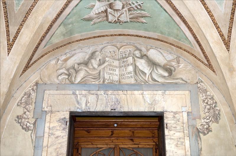 Ambito toscano sec. XIX, Dipinto di angeli