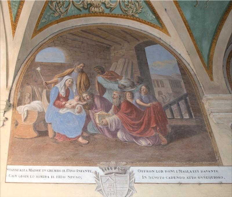 Ademollo L. (1833), Dipinto murale della Natività di Gesù