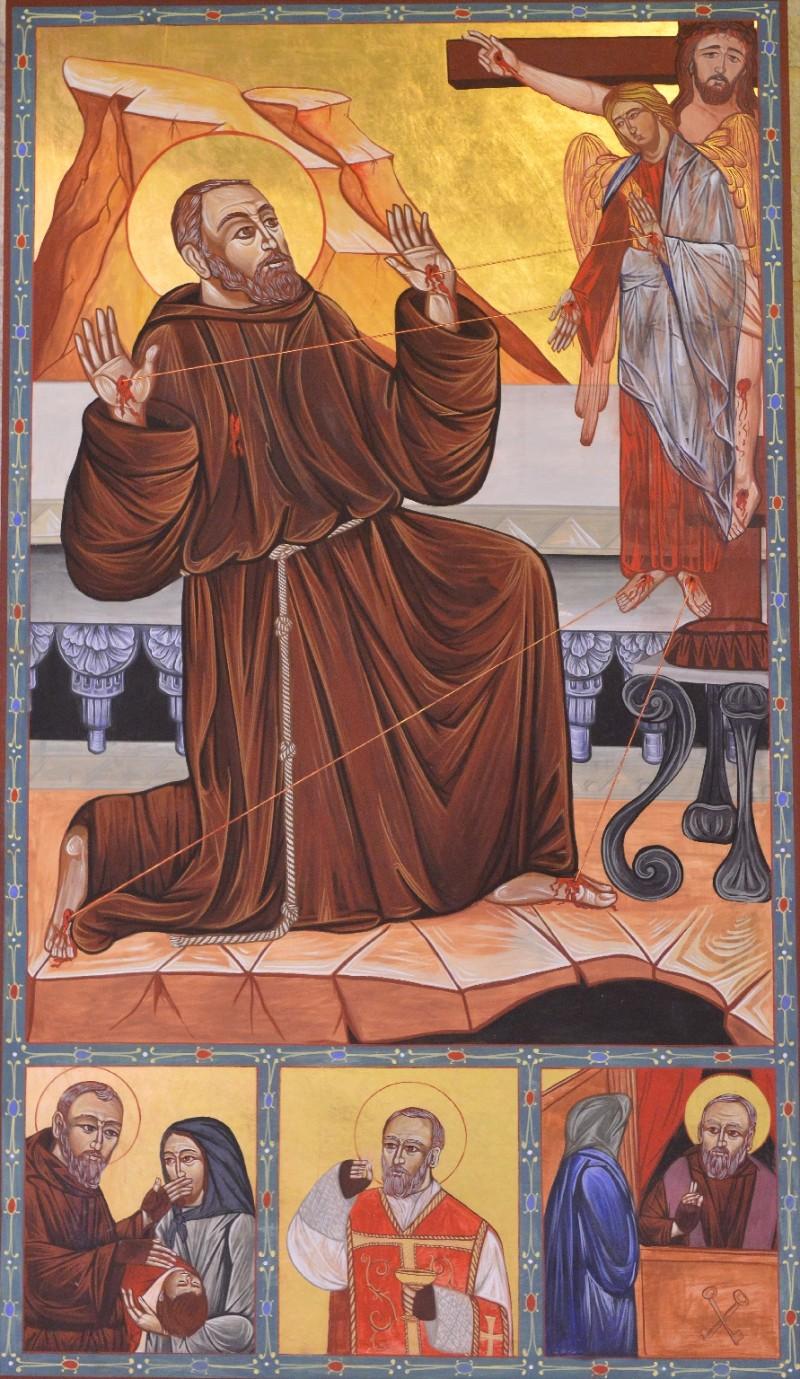 Ambito toscano sec. XXI, Dipinto di San Francesco che riceve le stimmate