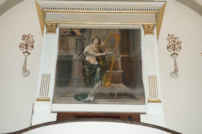 Ambito toscano sec. XIX, Dipinto di Santa Cecilia