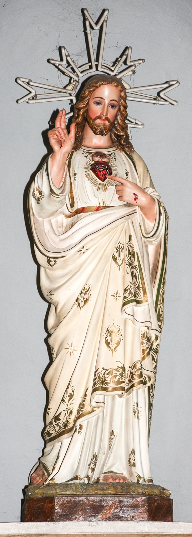 Bottega italiana sec. XX Statua del Sacro Cuore di Gesù