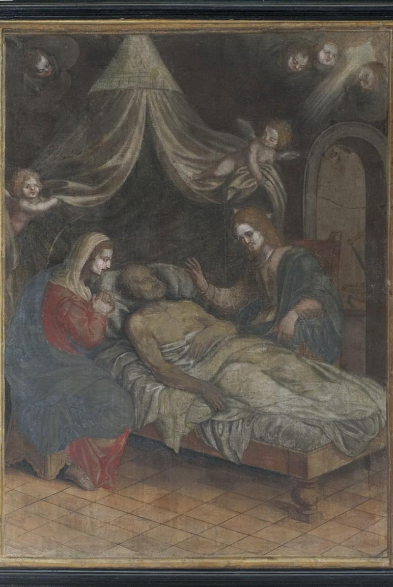Ambito Italia centrale sec. XIX, Dipinto con Transito di San Giuseppe