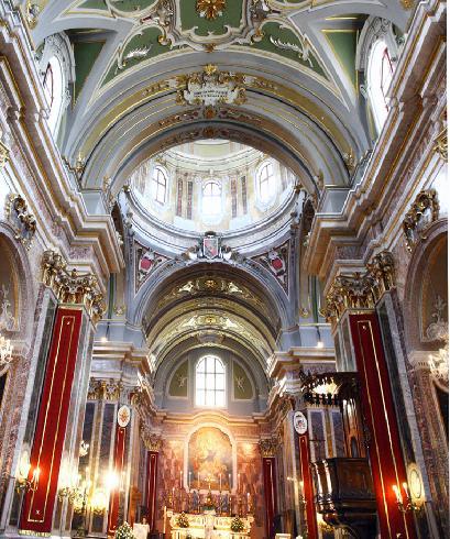 Veduta della  cupola sopra l'area presbiteriale