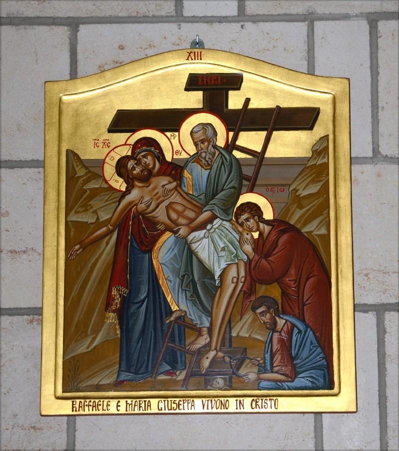 Mangano M. (2002), Icona di Gesù deposto dalla croce