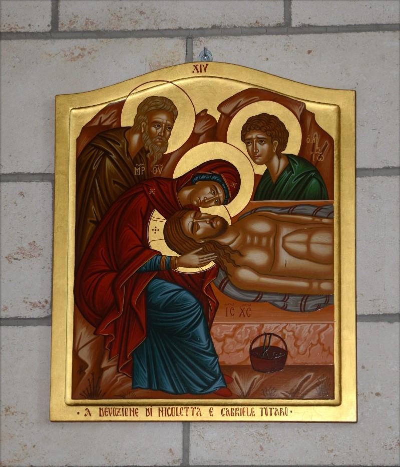 Mangano M. (2002), Icona di Gesù deposto nel sepolcro