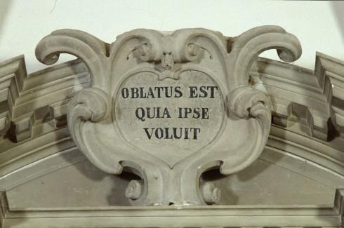 Maestranze venete sec. XVII-XVIII, Cartiglio dell'altare della cappella