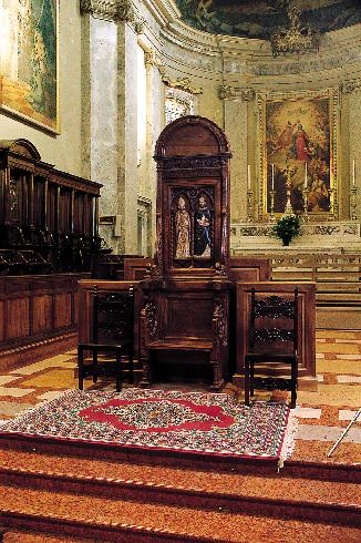 La cattedra  episcopale quattrocentesca
