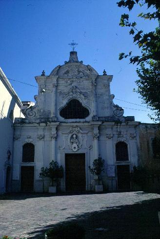 La facciata principale della cattedrale di San Prisco a Nocera