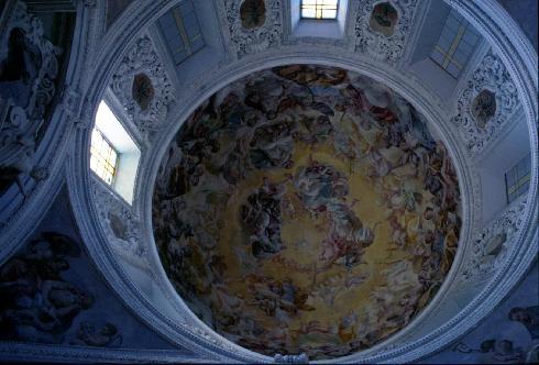 A. Solimena, Gloria del Paradiso nella cupola della Cappella del Rosario