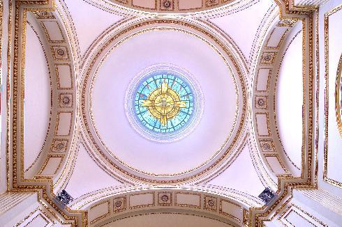 La cupola della cappella del Santissimo Sacramento