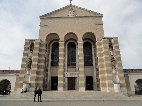 La facciata principale della cattedrale di San Marco
