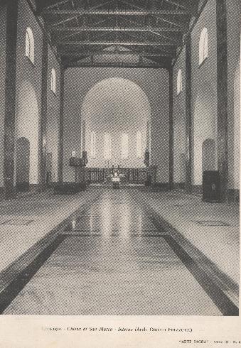 Interno della cattedrale nel 1933