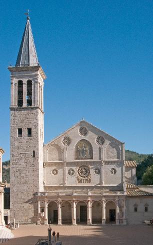 La facciata della cattedrale di Santa Maria Assunta a Spoleto