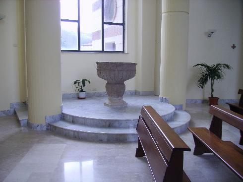 Il fonte battesimale della Chiesa di Santa Maria Assunta