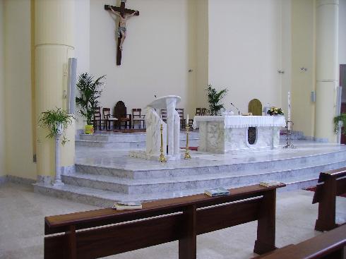 L'area presbiteriale della Chiesa di Santa Maria Assunta