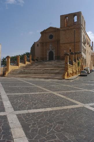 La facciata della cattedrale di San  Gerlando ad Agrigento