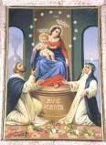 Bianchi F. A. sec. XX, Dipinto della Madonna del rosario