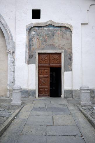 Vista dell'ingresso laterale