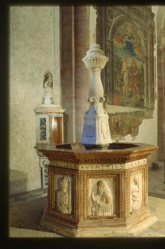 Il fonte battesimale  tardoquattrocentesco