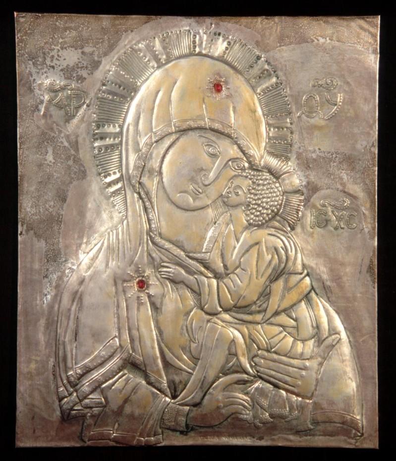 Bott. Italia centr. sec. XX, Icona della Madonna con Gesù Bambino