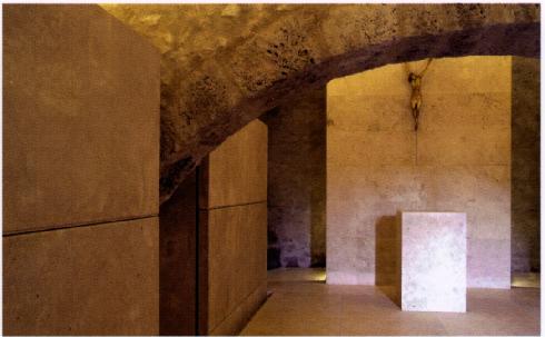 Il sepolcreto ipogeo dopo i lavori di recupero su progetto di  L. Scrimeieri , G. Cautillo, M. Morganti, G. Morganti