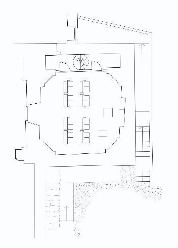 Pianta della cappella feriale, Laura Scrimieri - MCM (Mario Morganti, Gianfranco Cautilli e Renato Morganti)